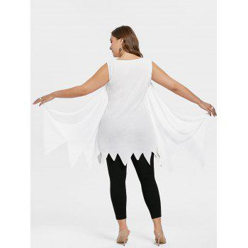 Plus Size Bat Wings Tunic Tank Top - WHITE 2X