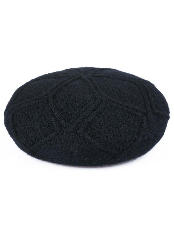 Stylish Solid Color Elegant Beret, Black