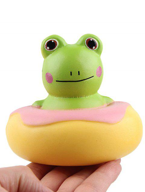 Frog Donut Slow Rising PU Squishy Toy - multicolor A