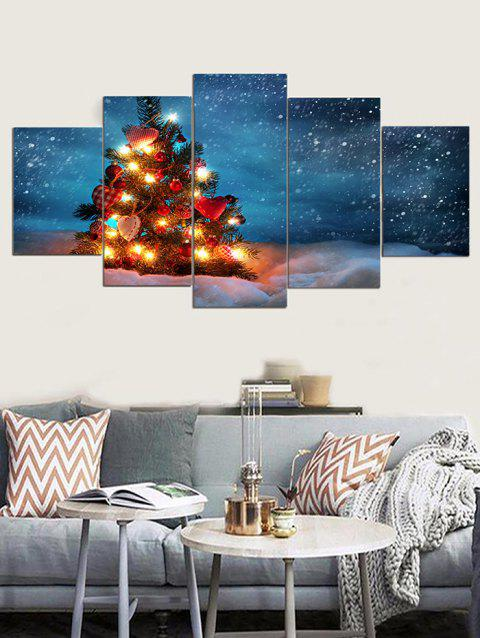 Christmas Tree Snow Print Unframed Canvas Paintings - multicolor 1PC X 8 X 20,2PCS X 8 X 12,2PCS X 8 X 16 INCH( NO
