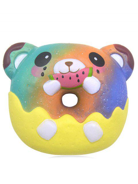 Bear Donut Stress-relief Slow Rising Squishy Toy - BLUE