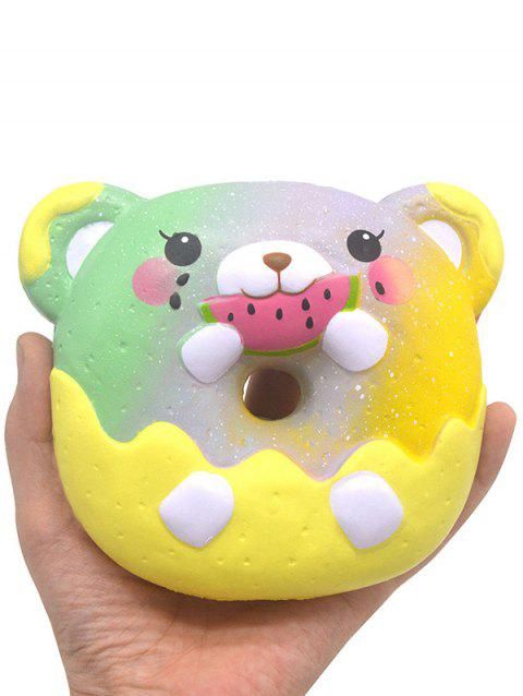 Bear Donut Stress-relief Slow Rising Squishy Toy - YELLOW