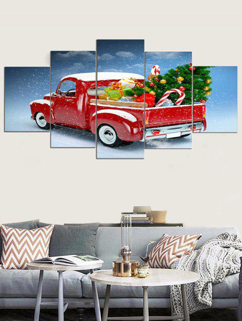 Christmas Car Pattern Unframed Canvas Paintings - multicolor 1PC X 8 X 20,2PCS X 8 X 12,2PCS X 8 X 16 INCH( NO