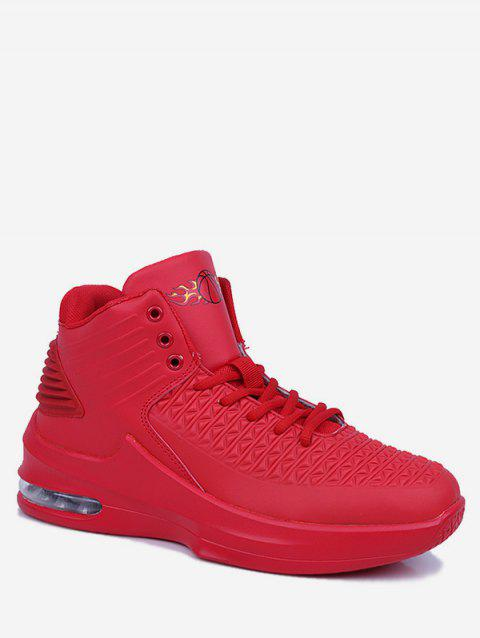 High Top Color Block Basketball Shoes - RED EU 41