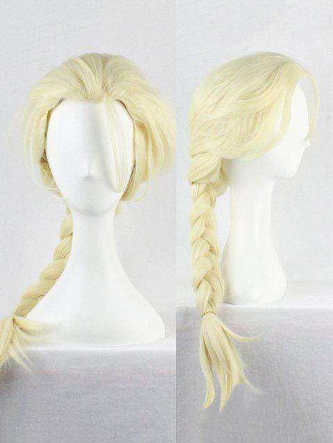 Long Braided Anime Cosplay Synthetic Wig - GOLD