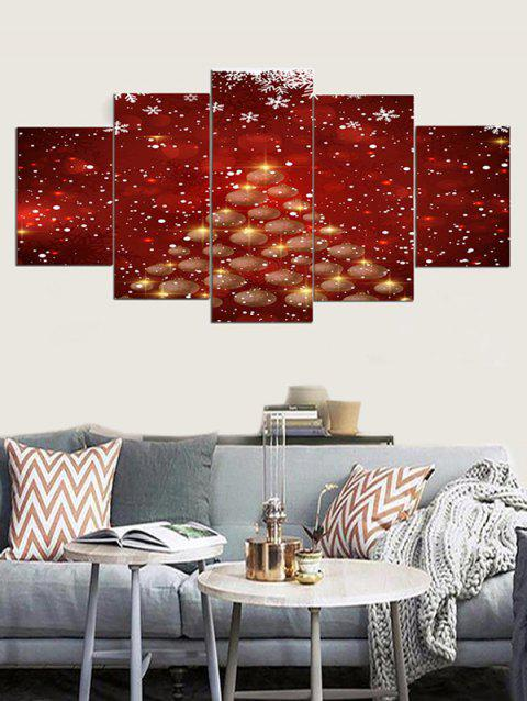 Impression de sapin de Noël sur toile - Rouge Vineux 1PC X 8 X 20,2PCS X 8 X 12,2PCS X 8 X 16 INCH( NO