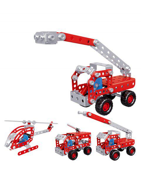 One Variable Four Shapes Fire Truck Shaped Building Block Toy
