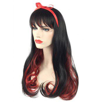 Long Side Bang Colormix Wavy Cosplay Synthetic Wig - multicolor