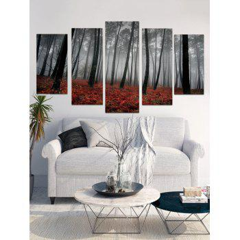Misty Forest Print Unframed Canvas Paintings - multicolor 1PC X 8 X 20,2PCS X 8 X 12,2PCS X 8 X 16 INCH( NO
