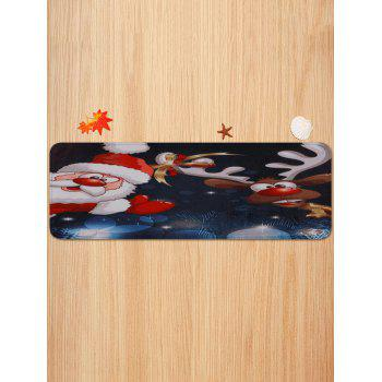Father Christmas Elk Printed Decorative Stair Floor Rugs - multicolor 5PCS X 28 X 9 INCH