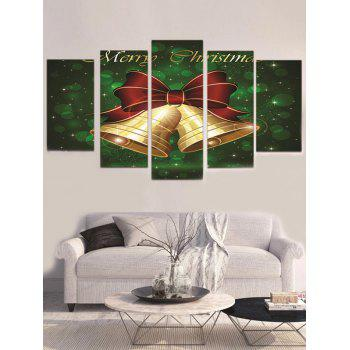 Christmas Bells Print Unframed Canvas Paintings - DEEP GREEN 1PC X 12 X 31,2PCS X 12 X 16,2PCS X 12 X 24 INCH(