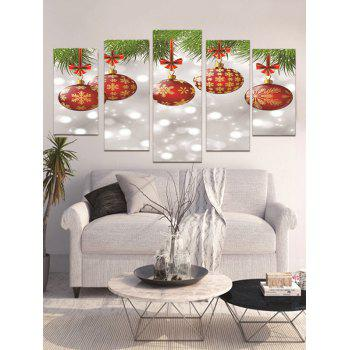 Christmas Hanging Balls Print Unframed Canvas Paintings - multicolor 1PC X 8 X 20,2PCS X 8 X 12,2PCS X 8 X 16 INCH( NO
