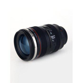 400ML Camera Lens Coffee Mug - BLACK