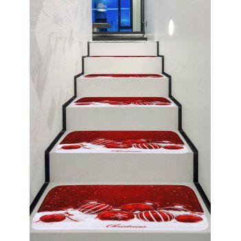 Christmas Ball Printing Stair Floor Rugs - multicolor 5PCS X 28 X 9 INCH