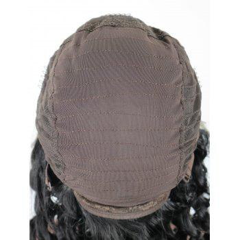 Free Part Big Long Curly Synthetic Lace Front Wig - BLACK 18INCH