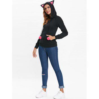 Halloween Lace Up Zip Up Hoodie - BLACK L