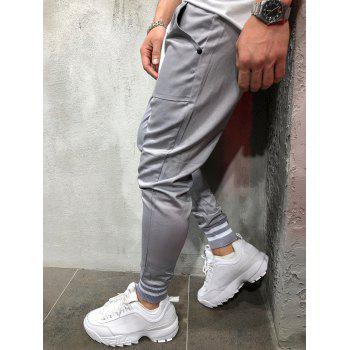 Stretchy Leg Opening Jogger Pants - GRAY XS
