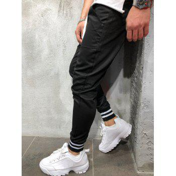 Stretchy Leg Opening Jogger Pants - BLACK S