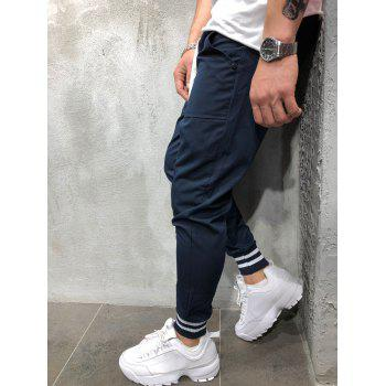 Stretchy Leg Opening Jogger Pants - DARK SLATE BLUE M