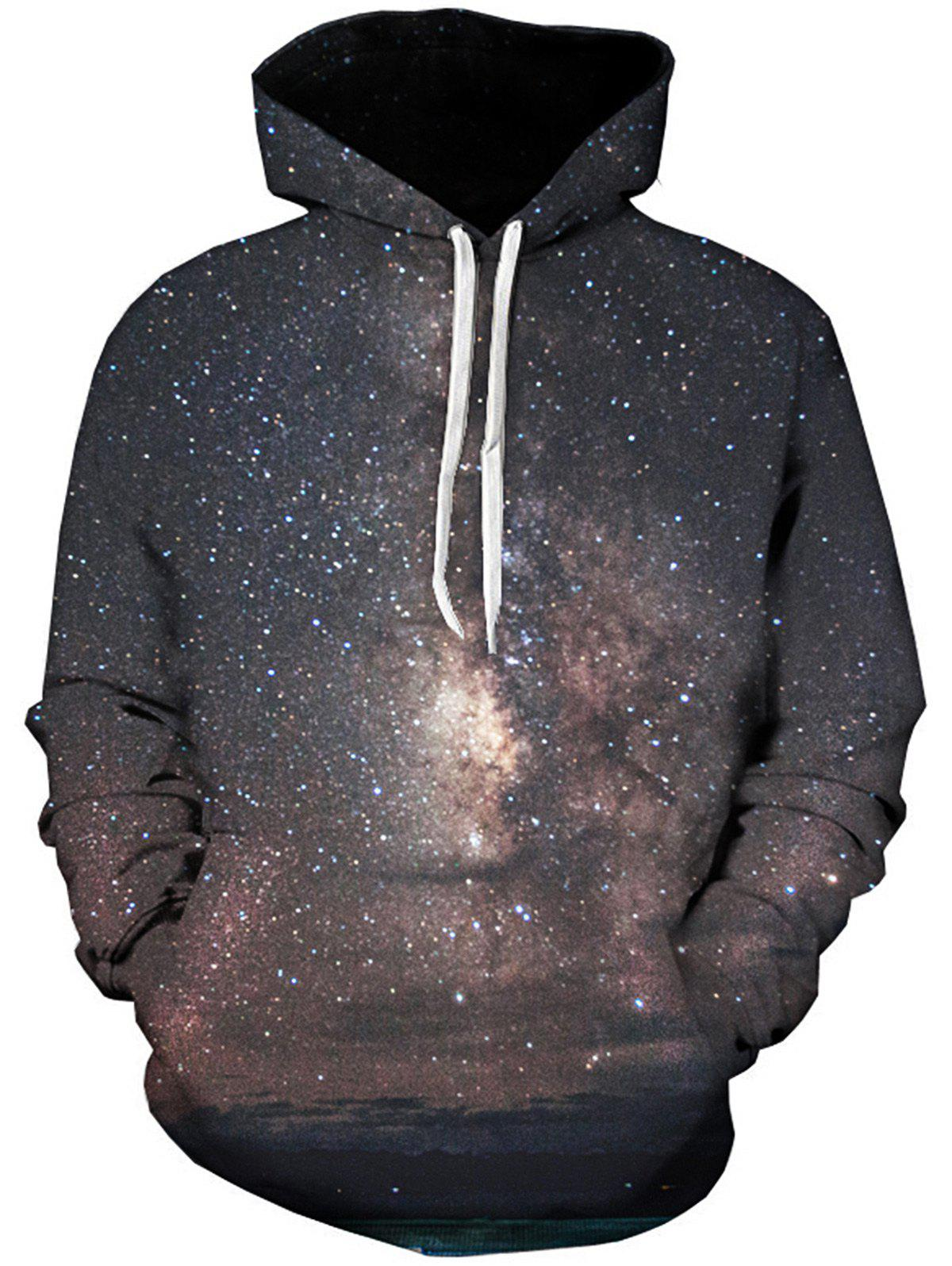 Galaxy Trippy 3D Printed Pullover Hoodie - COLORMIX 5XL