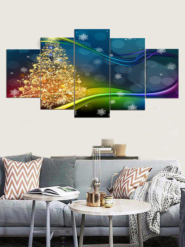 Fantasy Christmas Tree Pattern Art mural Peintures sur toile - multicolor 1PC X 8 X 20,2PCS X 8 X 12,2PCS X 8 X 16 INCH( NO FRAME )