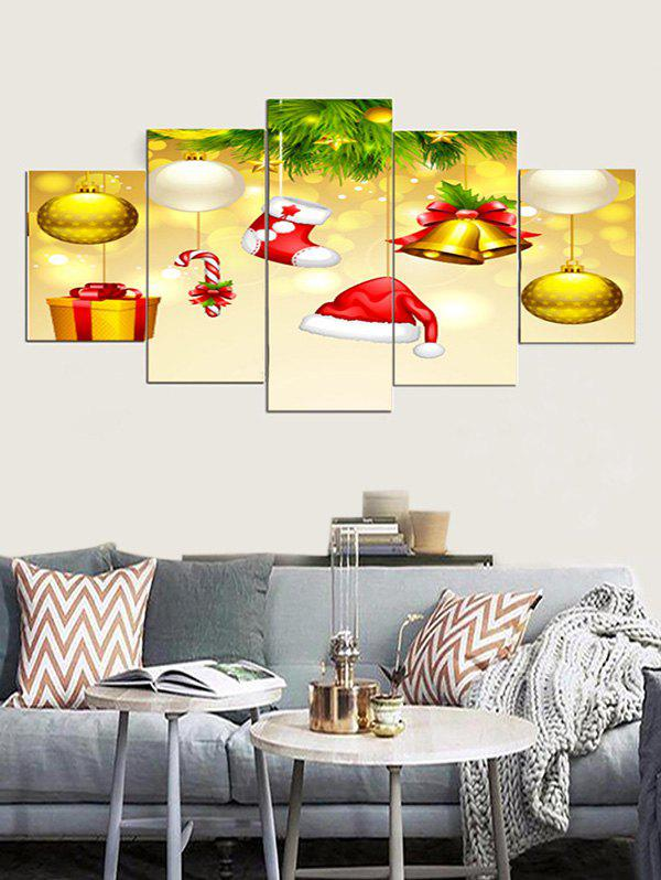 Wall Art Christmas Gift Pattern Canvas Paintings - multicolor 1PC X 8 X 20,2PCS X 8 X 12,2PCS X 8 X 16 INCH( NO