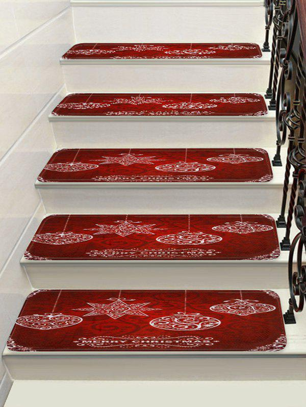 Merry Christmas Decorative Stair Floor Rugs - multicolor 5PCS X 28 X 9 INCH
