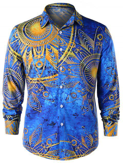 Maya Totem Printed Long Sleeve Shirt - COLORMIX 2XL