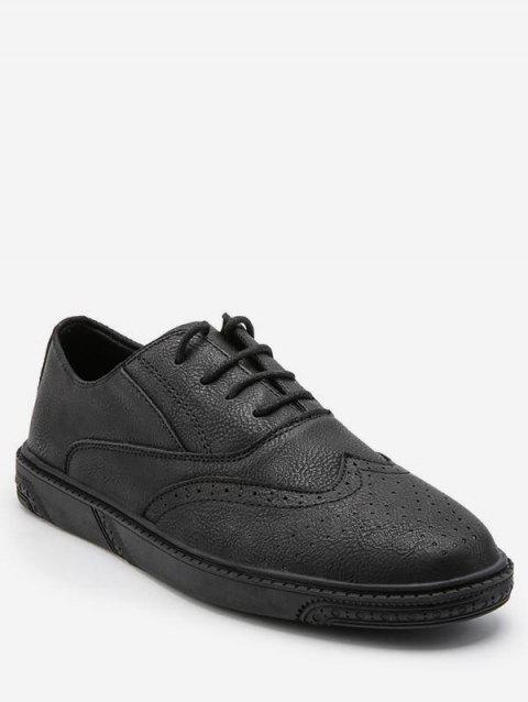 Retro Wing Tip Low Top Business Sneakers
