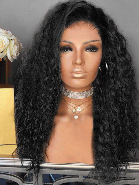 Short Inclined Bang Curly Colormix Party Synthetic Wig - BLACK