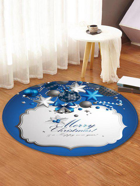 Snowflake Christmas Bell Decorative Round Floor Rug - BLUE IVY 60CM (ROUND)