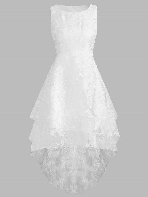 High Low Prom Dress - WHITE L