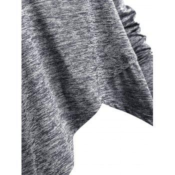 Space Dye Slit T-shirt - GRAY S