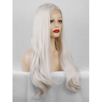 Middle Part Long Straight Synthetic Lace Front Party Wig - CRYSTAL CREAM 22INCH
