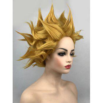 Short Tail Adduction Straight Synthetic Cosplay Wig - GOLD