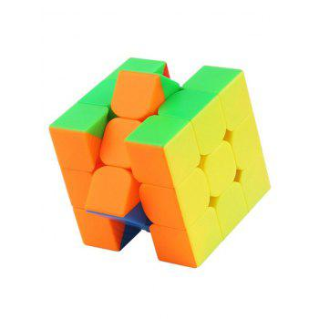 55.5mm Qiyi Black 3x3 Speed Cube Magic Cube - multicolor