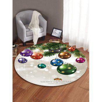 Christmas Theme Decorative Round Floor Rug - WARM WHITE 80CM (ROUND)