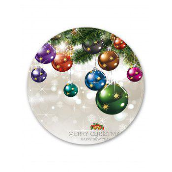 Christmas Theme Decorative Round Floor Rug - WARM WHITE 120CM (ROUND)