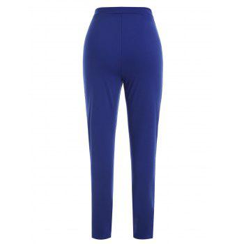 Pantalon Stretch à Lacets - Bleu L