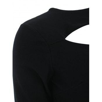 Skew Neck T-shirt - BLACK XL