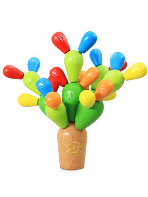 Wooden Tree Shape Building Blocks - multicolor