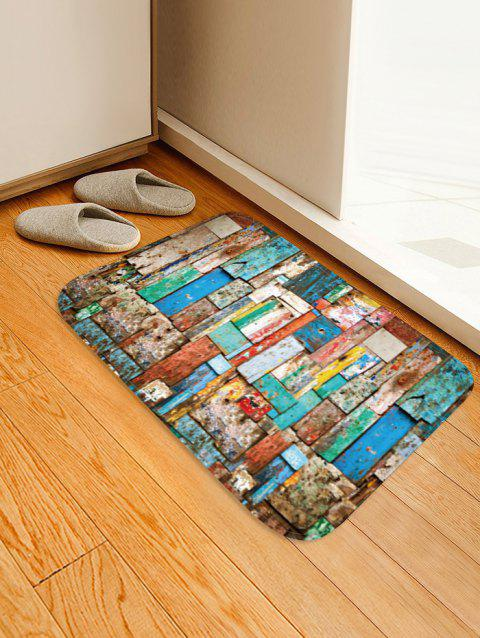 Colorful Wood Board Pattern Anti-skid Area Rug - multicolor W16 X L24 INCH