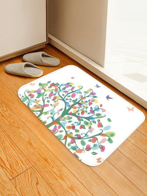 Colorful Tree Pattern Anti-skid Area Rug - WHITE W20 X L31.5 INCH