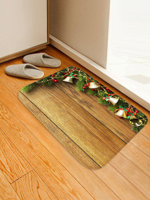 Christmas Jingle Bell and Board Print Non-slip Area Rug - WOOD W16 X L24 INCH