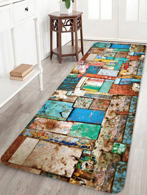 Colorful Wood Board Pattern Anti-skid Area Rug - multicolor W24 X L71 INCH