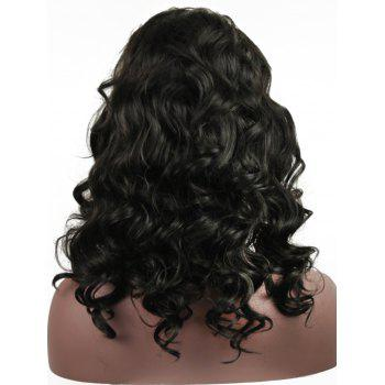 Long Body Wave Heat Resistant Synthetic Wig - NATURAL BLACK