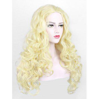 Long Synthetic Capless Wavy Party Wig - BLONDE