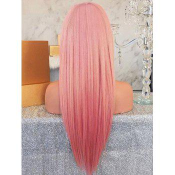 Long Straight Anime Party Synthetic Wig - LIGHT PINK