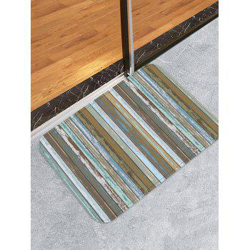 Old Wood Grain Pattern Anti-skid Area Rug - multicolor W20 X L31.5 INCH