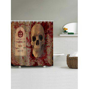 Halloween Pumpkin Skull Waterproof Shower Curtain - multicolor W71 X L71 INCH